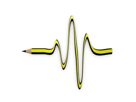 lifespan: 3d image Conceptual pencil, lifespan