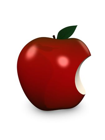 3d image, conceptual red apple