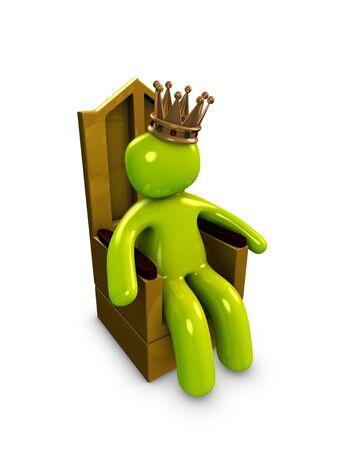 rey: Imagen 3D, conceptual, rey, emperador Foto de archivo