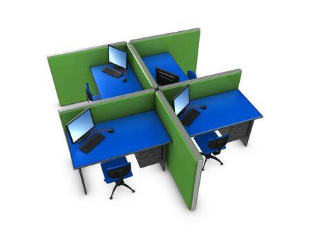 tabique: Imagen 3D, conceptual oficina de la partici�n