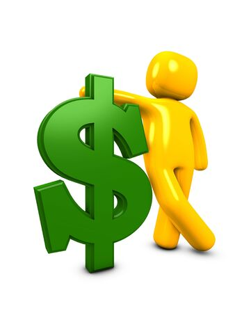 payee: 3d image, conceptual got the money