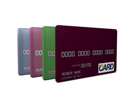 3d image, conceptual credit/debit card Stock Photo - 4267287
