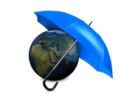 ozone layer: 3d image, Environment conceptual, earth umbrella
