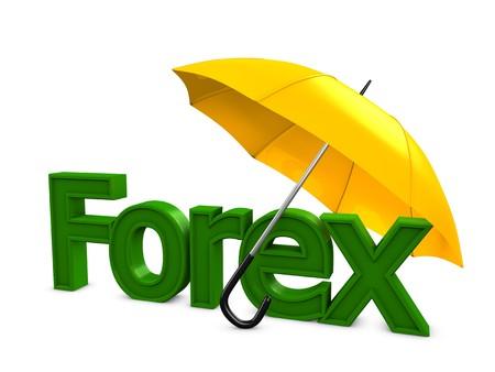 3d image, Investment conceptual, Forex umbrella Stock Photo - 4267345