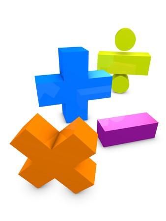 3d image, conceptual arithmetic symbol