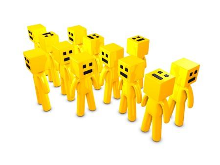 boxy: 3d image, boxy head character