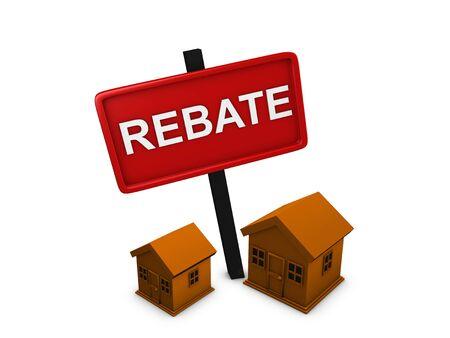 rebate: 3d image, conceptual housing rebate