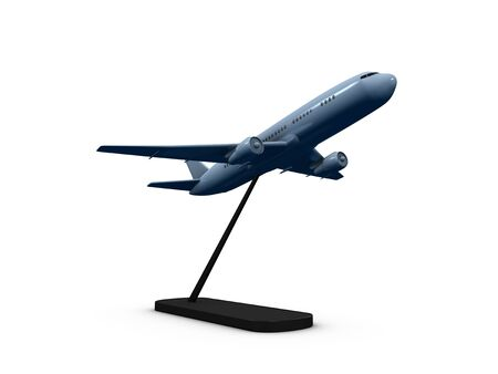 depart: 3d image, replica air plane with stand holder