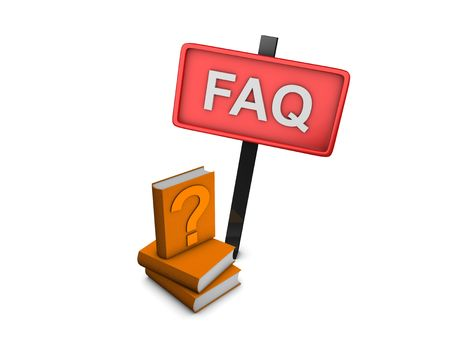 frequently: 3d image, frequently asked questions, over white background