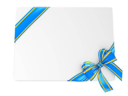3d greeting card concept blank Copy-space, isolated on white background.