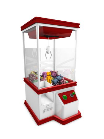 Concept graphic; Prize machine, isolated on white background. Stock Photo