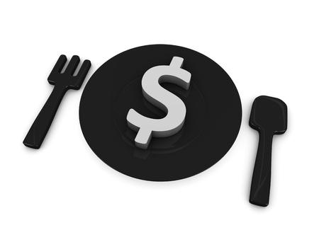 negocios comida: representaci�n 3D, imagen conceptual, negocios de comida. Foto de archivo
