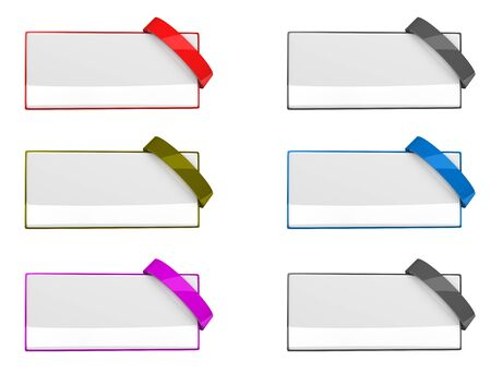 Banner templates, isolated on white background.