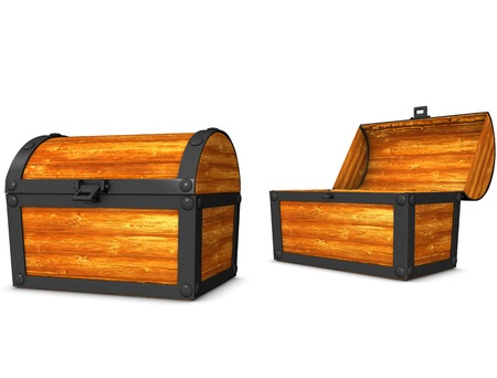 3d rendering, conceptual image, vintage look treasure chest