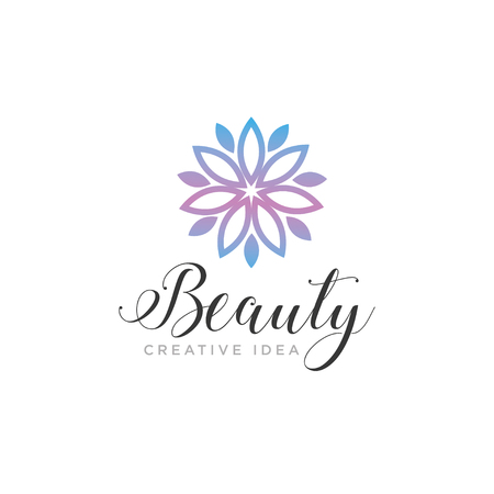 Unique Beauty Logo Design template and vector Ilustração