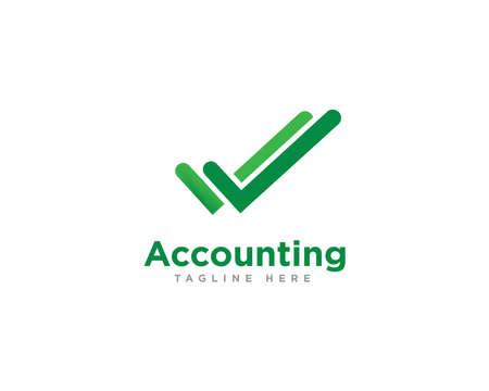 Accounting Check Logo Design Vector