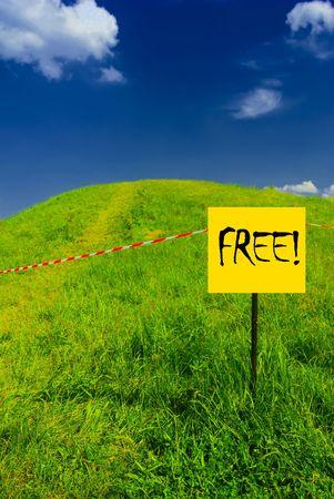 free plate: Idyllic landscape with FREE plate