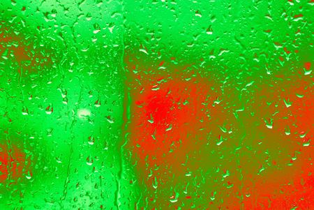 Waterdrops on the glass Stock Photo