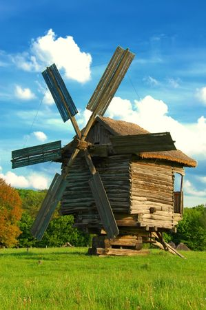Traditional old windmill Stock Photo