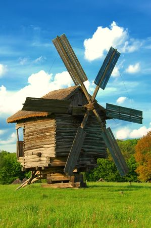 Old traditional windmil Stock Photo
