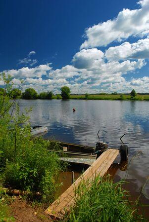 River landscape. Summertime