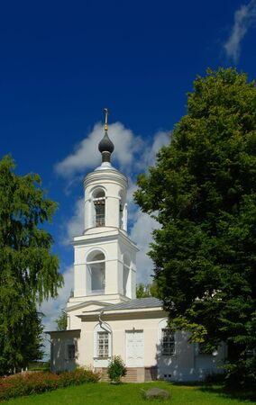 Typical orthodox cathedral in Russia, summertime Stock Photo