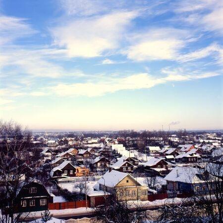 Small Russian city panorama