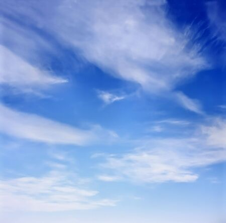 Deep blue sky background Stock Photo