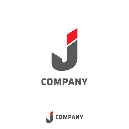 Letter J Alphabetic Logo Design Template