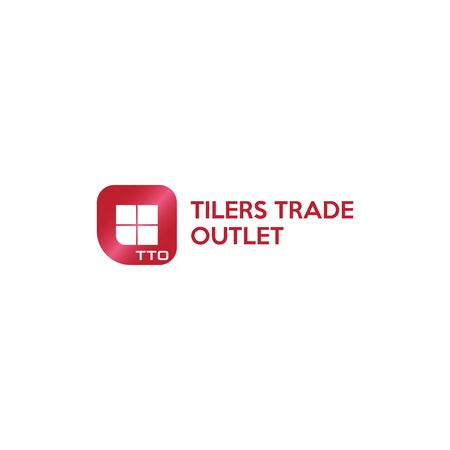 Tilers Trade Logo Concept, Simple Design, Real Estate, Developer, Dark Red, Abstarct Tiling Like Window