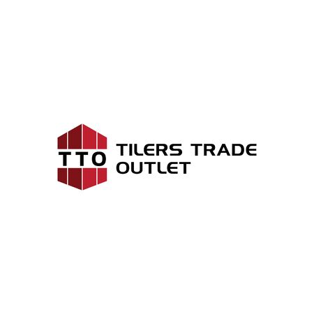 Tilers Trade Logo Concept, Simple Design, Real Estate, Developer, Dark Red, Brown