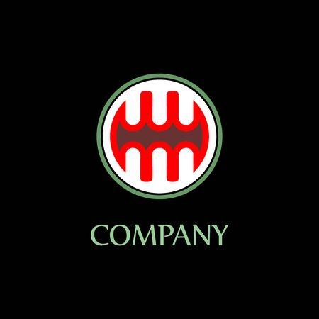 Letter MW Alphabetic Logo Design Template, Ellipse, Rounded Logo Concept, Black Background, Strong And Bold, Lettermark