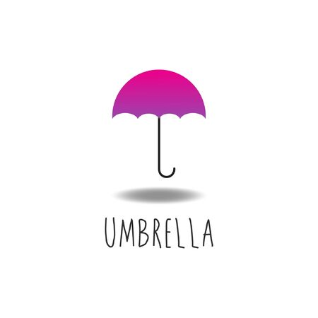 Umbrella Vector, Pink, Violet, Purple, Design Template