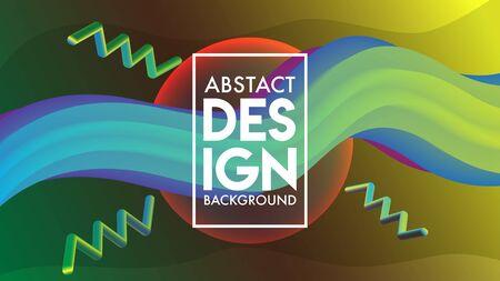 Abstract Blend Background Design Template, Orange, Purple, Violet, Blue, Green Banque d'images - 129786925