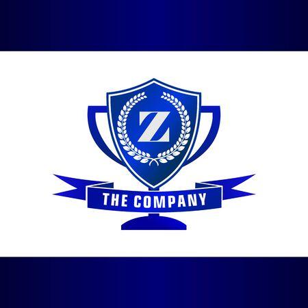 Letter Z Trophy, Emblem, Shield Logo Concept