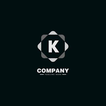 Letter K Alphabetic Logo Concept