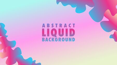 Colorful Cute Abstract Liquid Background Design Template, Resolution 16:9