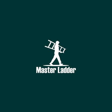 Master Ladder Logo Design Template, Pictorial Mark Logo Concept, Character Logo