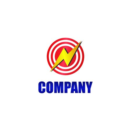 Big Watt, High Voltage, Lightning Bolt Icon, Circle energy and electricity Logo Concept, Electrical Power Logo Design Template