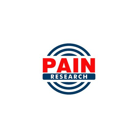 Pain Research Company Logo Design Template, Blue, Red, Simple Logo Concept Stock fotó - 132476545