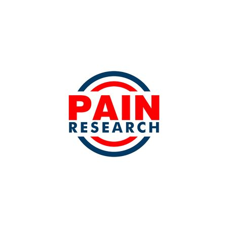 Pain Research Company Logo Design Template, Blue, Red, Simple Logo Concept