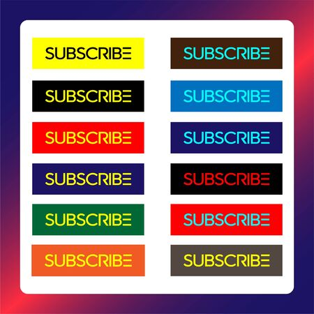 Subscribe Button For TV Channel or Social Media Illustration