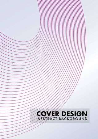 Curved Lines Design Vector, Abstract Wave Line, Cover Design Template, Maroon, Pink, Suitable for your project