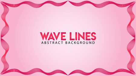 Abstract Wave Line Background Design Vector, Tape Spectrum Frame Concept, Romantic Color, Beautiful Background Template