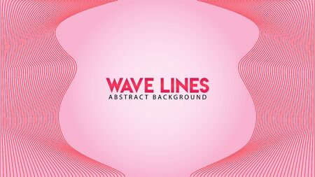 Abstract Wave Line Background Design Vector, Spectrum Frame Concept, Romantic Color, Beautiful Background Template