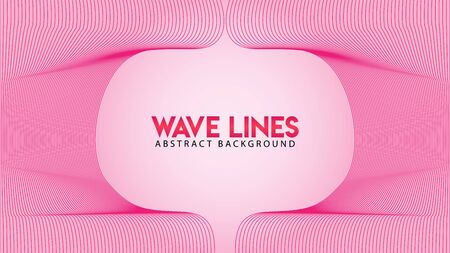 Lovable Pinky Frame Concept, Abstract Wave Line Background Design Vector, Romantic Color, Beautiful Background Template Illustration