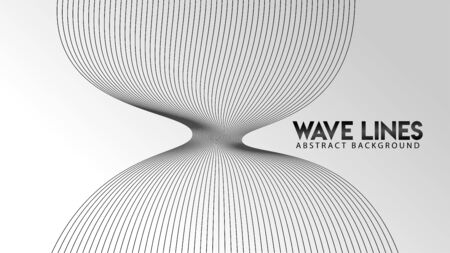 Abstract Wave Line Background Design Vector, Monochrome Explosion