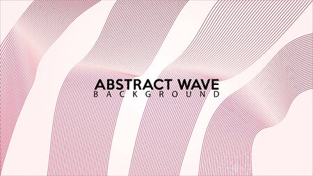 Pinky Abstract Wave Line Background Design Vector