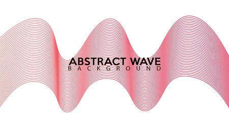 Pinky Abstract Wave Line Background Design Vector Illustration