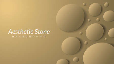 aesthetic stones background design template with blank space. oval shape like an egg. vector illustration. luxury, elegant, gold, beige, earthtones.